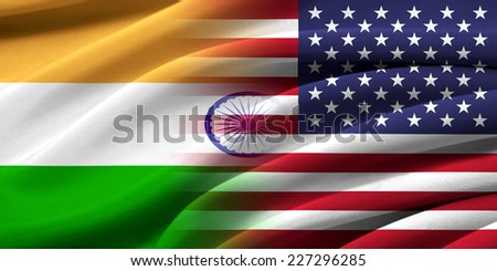 USA and India. Relations between two countries. Conceptual image. - stock photo