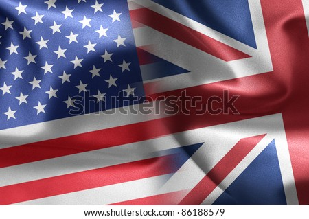 USA and UK illustration - stock photo