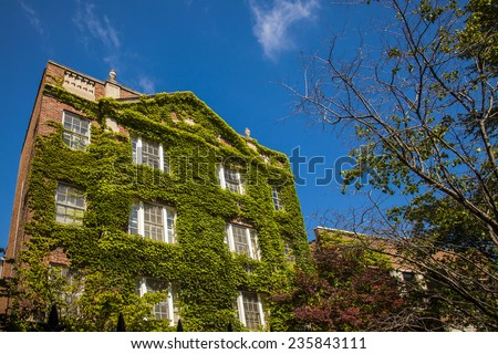 Usa  Apartments. Good life in old house - stock photo