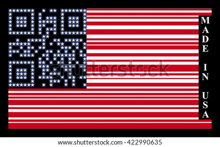 USA barcode flag - stock photo