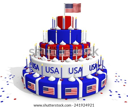 Cake Art Usa : 4th Birthday Cake Stock Photos, Images, & Pictures ...