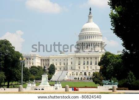 USA Capitol in Washington DC - stock photo