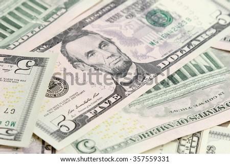 USA cash dollars background - stock photo