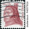USA - CIRCA 1982: A stamp printed in the USA, shows Crazy Horse, leader of the tribe Oglala Sioux, circa 1982 - stock photo