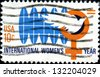 USA - CIRCA 1975: A stamp printed in United States of America devoted international woman's year, circa 1975 - stock photo
