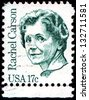 USA - CIRCA 1981: A stamp printed in United States of America shows Rachel Louise Carson (1907-1964), circa 1981 - stock photo