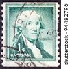 "USA - CIRCA 1954: A stamp printed in USA from the ""Liberty"" issue shows 1st President of the United States George Washington, circa 1954. - stock photo"