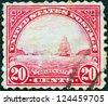 USA - CIRCA 1922: A stamp printed in USA shows Golden Gate, San Francisco, circa 1922. - stock photo