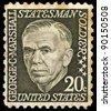 USA - CIRCA 1967: A stamp printed in USA shows image of George Marshall, circa 1967 - stock photo
