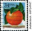 USA - CIRCA 2001: A stamp printed in USA shows orange, circa 2001 - stock photo