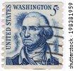 USA - CIRCA 1930: A stamp printed in USA shows Portrait President George Washington circa 1930.  - stock photo