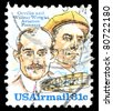 USA - CIRCA 1995: A Stamp published in the USA with image of the brothers Orville and Wilbur Wright - American aviation pioneers, circa 1995 - stock photo
