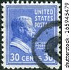 "USA - CIRCA 1938: Postage stamp printed in the USA, a portrait of 26th President of the United States, Theodore ""TR"" Roosevelt, Jr., Circa 1938 - stock photo"