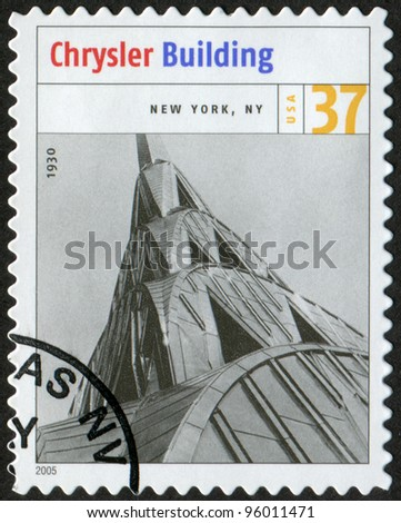 USA - CIRCA 2005: Postage stamp printed in USA shows the image of Chrysler Building (New York, NY). Modern American Architecture, circa 2005 - stock photo