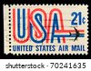 USA - CIRCA 1980-th: Stamp printed in USA shows Symbols of American airmail, circa 1980-th - stock photo