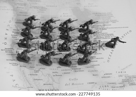 USA conflict - stock photo