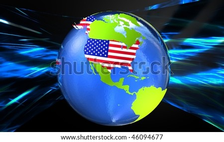 Usa D Globe Stock Illustration Shutterstock - Globe of usa