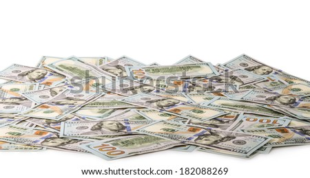 USA 100 dollar bill isolated on a white as background - stock photo