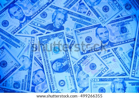 USA Dollar bills background
