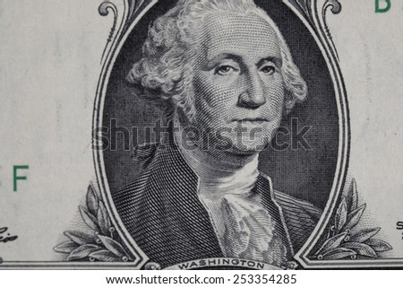 USA dollar in macro shot - stock photo