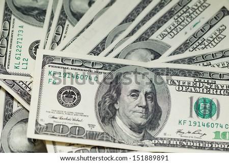 USA dollars - stock photo