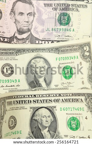 usa dollars background - stock photo