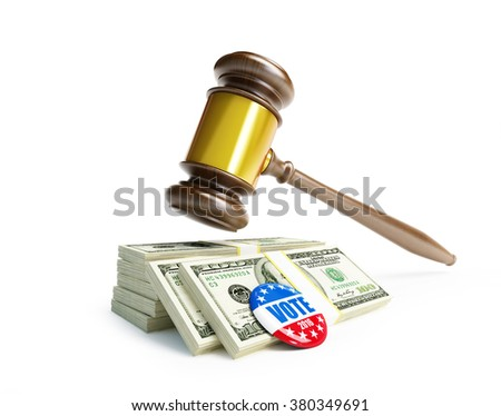 USA elections in 2016 criminal penalties for bribing voters.3d Illustrations - stock photo