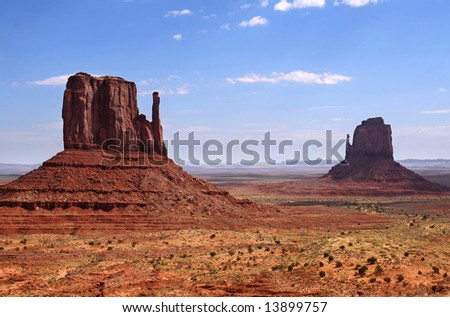 USA famous places. Monument Valley.