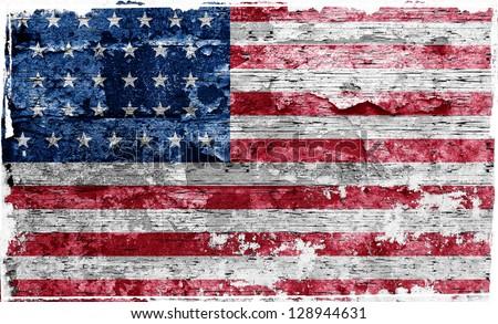 usa flag - stock photo