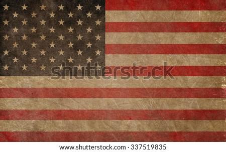 USA flag. Background. American flag - stock photo