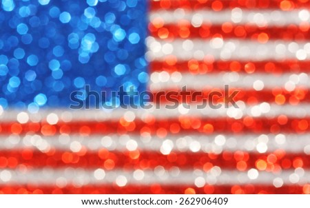 USA flag background - sparkly glittery background - stock photo