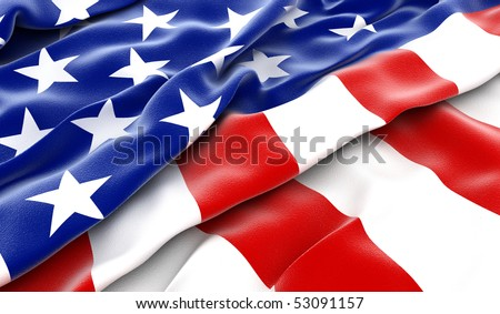 USA flag - 3D render - stock photo