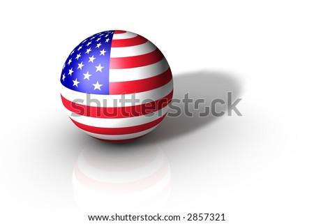 USA Flag Globe - stock photo