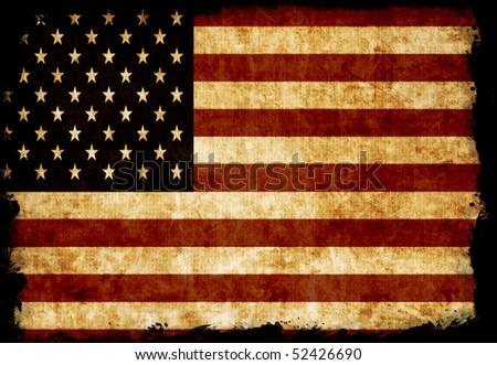 USA flag. Grunge style. - stock photo