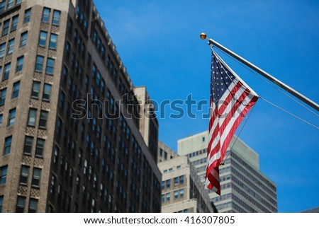 USA Flag in NYC