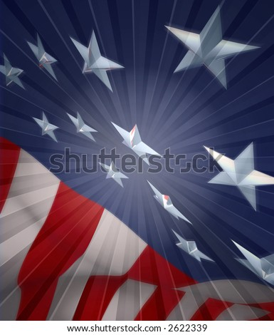 USA flag in style - stock photo