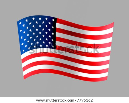 USA flag is one of the most known flags in the world.
