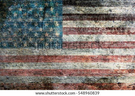 USA flag metallic background texture