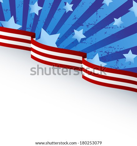 USA flag theme background with place for your copy\text. Raster version.   - stock photo