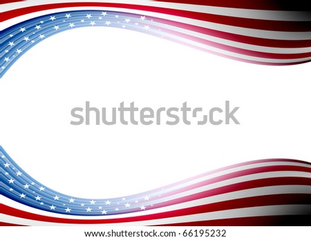 Usa flag waveswith  space for insert text or design. Illustration - stock photo