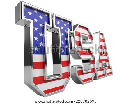 USA Flag with white - stock photo