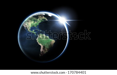 USA from space Element of this image furnished by NASA.
