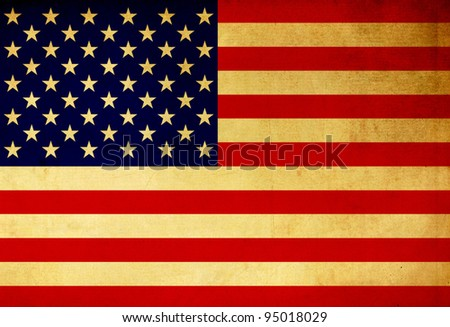 USA grunge flag background - stock photo