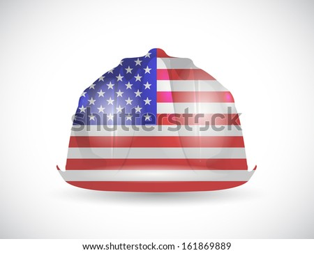 usa helmet illustration design over a white background - stock photo