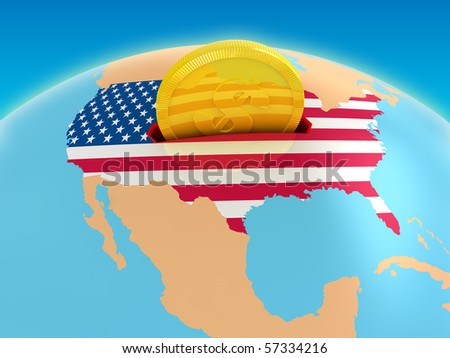 USA investment - stock photo