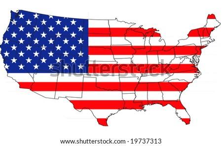 Usa map. - stock photo