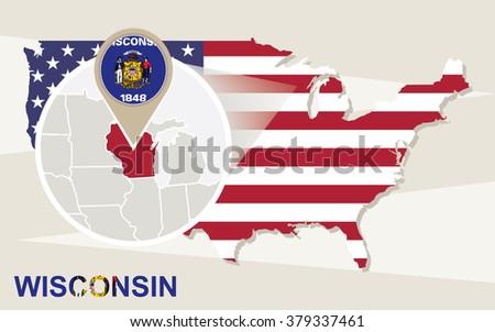 Us Map Wisconsin Globalinterco - Wisconsin on us map
