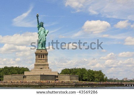 USA, New York, New York Harbor, Liberty Island, Statue of Liberty - stock photo