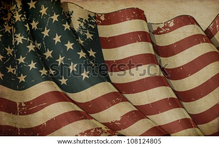 USA Old Paper - stock photo