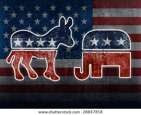 USA political symbols - stock photo